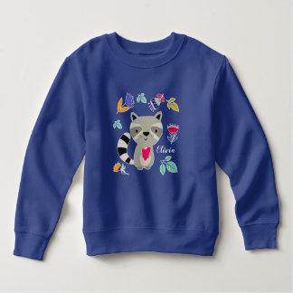 Raton laveur drôle avec le sweatshirt infantile