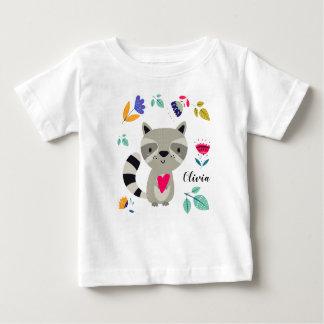 Raton laveur drôle avec le T-shirts fait sur
