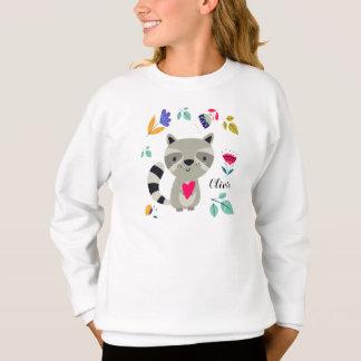 Raton laveur drôle avec les sweatshirts des