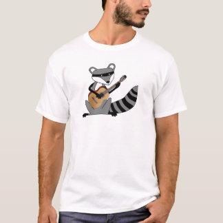 Raton laveur jouant la guitare t-shirt