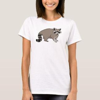 Raton laveur réaliste mignon de bande dessinée t-shirt