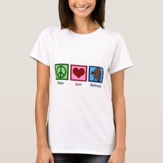 Ratons laveurs d'amour de paix t-shirt