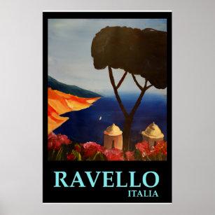 Ravello Italie - rétro affiche de style