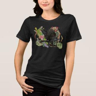 Raven de T-shirt d'animal d'esprit de fortune