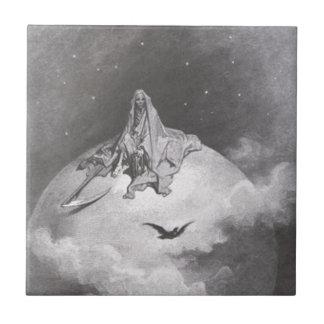 Raven du Poe rêvant la copie de rêves Petit Carreau Carré