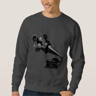 Raven jouant le sweatshirt des hommes de Victrola
