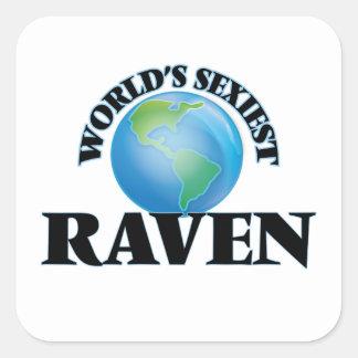Raven le plus sexy du monde autocollants carrés