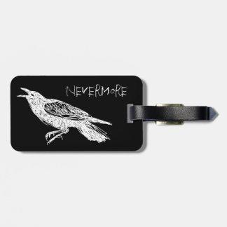 Raven, noir et blanc étiquette pour bagages