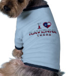 Ravenne, le Texas Tee-shirt Pour Animal Domestique