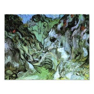 Ravin de Van Gogh Les Peiroulets, paysage vintage Carton D'invitation 10,79 Cm X 13,97 Cm