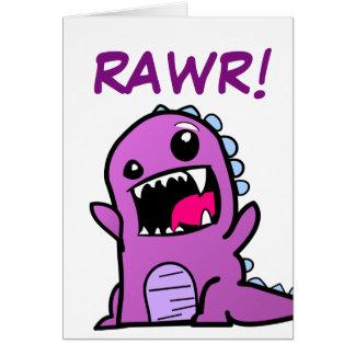 Rawr ! Carte de joyeux anniversaire de dinosaure