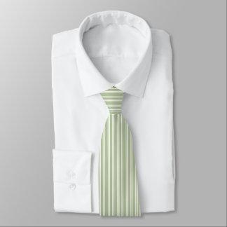 Rayé de vert et blanc olive cravates