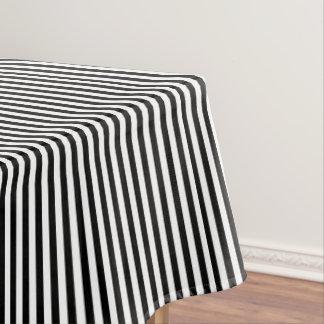 Rayé noir et blanc nappe