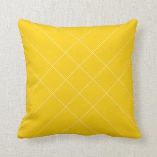 Rayer croisé jaune oreillers