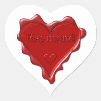 Raymond. Joint rouge de cire de coeur avec Raymond Sticker Cœur