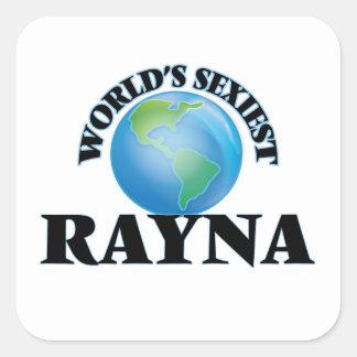 Rayna le plus sexy du monde autocollant carré