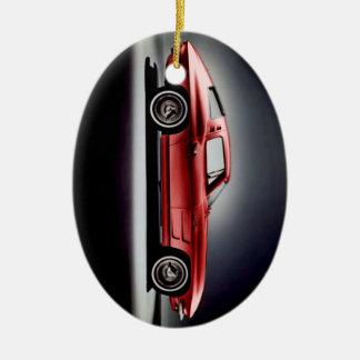 Rayon 1963 de Corvette Sting Ornement Ovale En Céramique