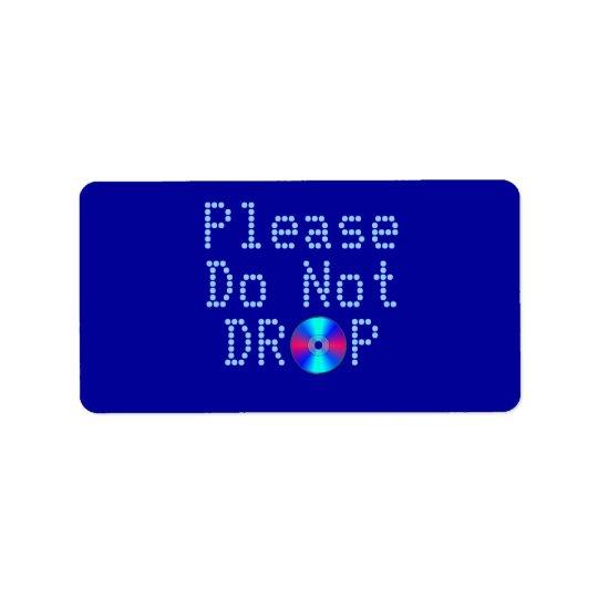 Rayon bleu étiquette d'adresse