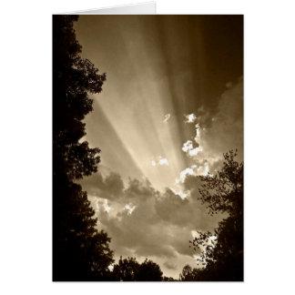 Rayon de soleil carte de vœux