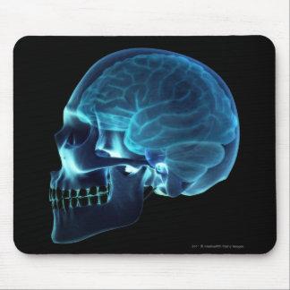 Rayon X du cerveau à l'intérieur d'un crâne Tapis De Souris