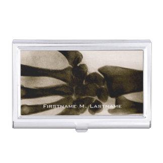 Rayon X humain noir et blanc vintage de main Porte-cartes De Visite