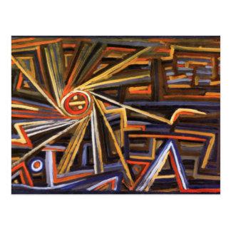 Rayonnement et rotation par Paul Klee Carte Postale
