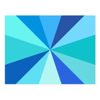 Rayons 60s géométriques géniaux modernes d'art de cartes postales