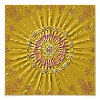 «Rayons dorés» comme pression de photo environ