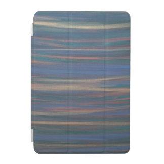 Rayure bleue déterminée de vert de bronze d'or de protection iPad mini