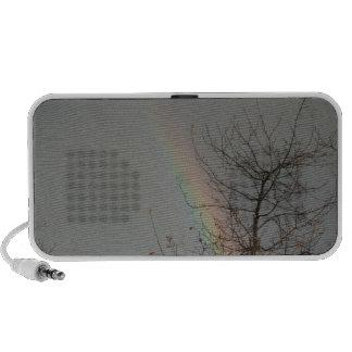 rayure d'arc-en-ciel haut-parleur portable