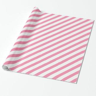 Rayure de diagonale de joues de Rosey Papier Cadeau