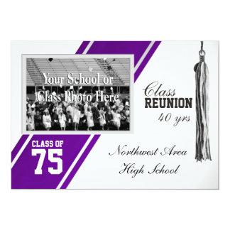 Rayure de fac avec la Réunion de classe de photo Carton D'invitation 12,7 Cm X 17,78 Cm