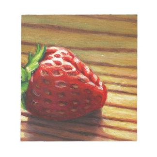 Rayure de fraise bloc-note