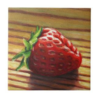 Rayure de fraise carreau