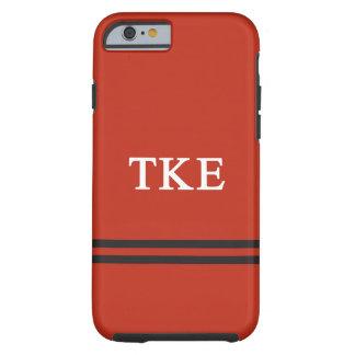 Rayure de sport de l'epsilon | de Kappa de Tau Coque Tough iPhone 6