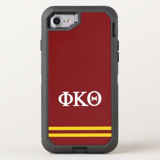 Rayure de sport du thêta | de Kappa de phi Coque OtterBox Defender iPhone 8/7