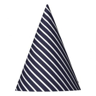 Rayure diagonale bleue de carnaval chapeaux de fètes
