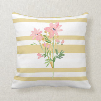 Rayure et coussin floral