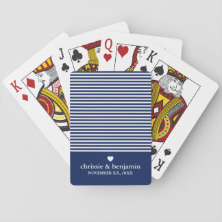 Rayure faite sur commande de date de marié de cartes à jouer