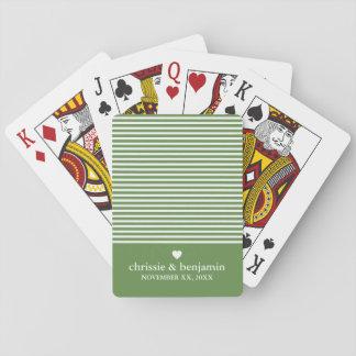 Rayure faite sur commande de date de marié de jeu de cartes
