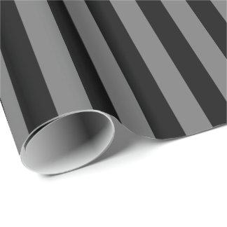 Rayure grise/noire papiers cadeaux noël