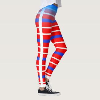 Rayure horizontale bleue/blanche choisissent votre leggings