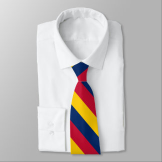 Rayure jaune et rouge bleue d'université cravate