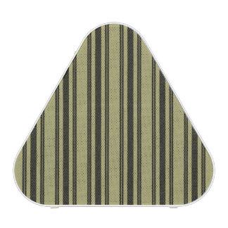 Rayure noire de coutil de matelas kaki français haut-parleur bluetooth