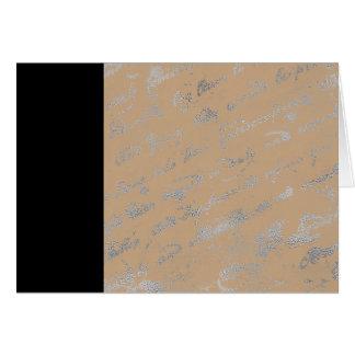 Rayure noire et carte pour notes bronzage