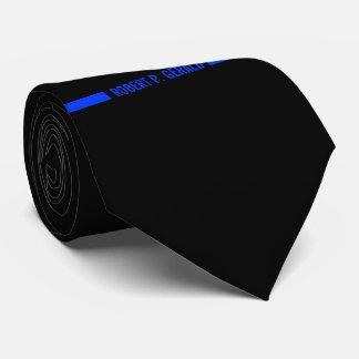 Rayure nommée faite sur commande mince de Blue Cravates