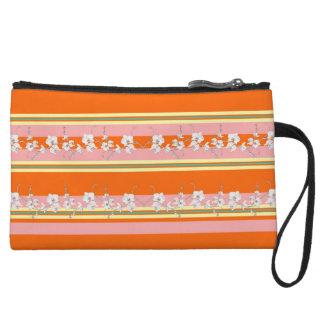 Rayure orange moderne audacieuse pochettes avec anse