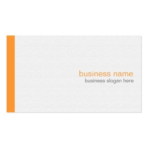 Rayure orange simple moderne élégante simple sur l cartes de visite personnelles