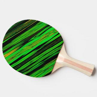 Rayure verte de sucrerie raquette tennis de table
