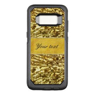 Rayures à la mode de zèbre de feuille d'or de Faux Coque Samsung Galaxy S8 Par OtterBox Commuter